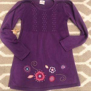 Hanna Andersson purple sweater tunic dress 10